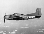 Broadside view of a Douglas BTD Destroyer during a test flight in the Chesapeake Bay area, United States, 25 Jul 1944.
