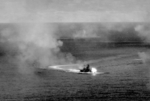Ise firing during Battle off Cape Engaño, 25 Oct 1944