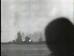 Ise during a gunnery exercise, Seto Inland Sea, Japan, 1944, photo 1 of 2