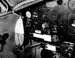 Instrument panel of a Martin PBM-3R Mariner stationed at the Naval Air Station Banana River, Florida, United States, 24 Feb 1943. Photo 1 of 3.
