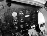 Instrument panel of a Martin PBM-3R Mariner stationed at the Naval Air Station Banana River, Florida, United States, 24 Feb 1943. Photo 3 of 3.