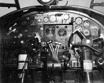 Instrument panel and controls of a North American B-25 Mitchell bomber, except that this one is a PBJ-1 assigned to a United States Marine Corps bombing squadron, 21 Jul 1943.