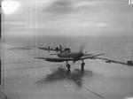 Firebrand IV aircraft aboard HMS Illustrious on the Clyde, Scotland, United Kingdom, 8-9 Feb 1943, photo 7 of 11