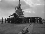 Firebrand IV aircraft aboard HMS Illustrious on the Clyde, Scotland, United Kingdom, 8-9 Feb 1943, photo 9 of 11