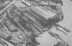 Aerial view of Germaniawerft yard in Kiel, Germany, 1920s; note that the torpedo boat slips had been removed