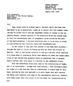 Letter to president Roosevelt drafted by physicist Leó Szilárd with assistance from Edward Teller and Eugene Wigner and then signed by Albert Einstein urging the development of nuclear energy, 2 Aug 1939, page 1 of 2