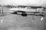 Captured MXY7 Ohka aircraft on display at Hickam Field, Oahu, Hawaii, 18 Jun 1945.
