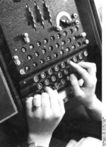 Enigma machine in use, 10 Dec 1943
