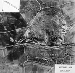 Aerial photo of German V2 site at the Wizernes, France area, 1944