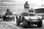 Panhard Type 178 armoured cars on parade, date unknown