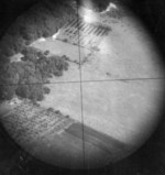 English countryside seen through the Norden bombsight, 1944