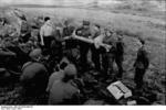 German soldiers receiving instructions on the Panzerschreck weapon, southern Soviet Union, 1944, photo 1 of 2