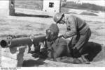 German Panzerschreck crew on exercise, France, spring 1944, photo 2 of 3