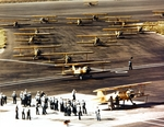 N2S and N3N training aircraft at Naval Air Station Corpus Christi, Texas, United States, 1942-1943