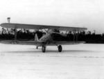 The first aircraft, an N3N-3 Canary, to have landed at Naval Air Station Jacksonville, Florida, United States, 7 Sep 1940