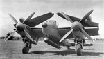 "Experimental DeHavilland Mosquito ""Sea-Mossie"" with folding wings and torpedo mount for possible carrier use, Jun 1945 at Hatfield Aerodrome, Hertfordshire, England, United Kingdom. These did not go into production."