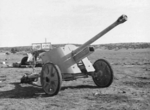 An abandoned German 5 cm PaK 38 anti-tank gun in North Africa, 9 Feb 1943