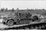 SdKfz 10 halftrack towing a 5 cm PaK 38 gun over a bridge, Russia, Jun-Jul 1942