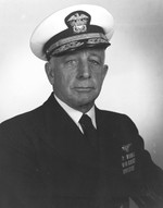 Official portrait of Vice-Admiral Aubrey Fitch, 18 Mar 1946.