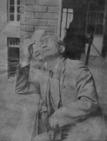 Chu Minyi observing a complete solar eclipse, Nanjing, China, 21 Sep 1941