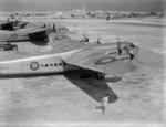 York C Mark I aircraft of No. 47 Group RAF at RAF Luqa, Malta, 3 Aug 1945