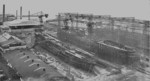 View of Howaldtswerke shipyard, Kiel, Germany, circa 1920s