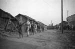 Chinese soldiers parading with recently captured Japanese equpiment, Changde, Hunan Province, China, 25 Dec 1943, photo 1 of 2