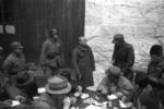 Japanese prisoner of war being questioned by journalists, Changde, Hunan Province, China, 24 Dec 1943
