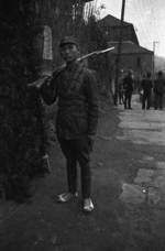 Chinese soldier with Hangyang Type 88 rifle, Chongqing, China, 1940s