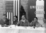 Wendell Wilkie, Song Meiling, Kong Xiangxi (H. H. Kung), and Song Ailing at an event in Henan Province, China, 1942, photo 1 of 6