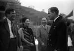 Wendell Wilkie, Song Meiling, and Kong Xiangxi (H. H. Kung) at an event held in honor of special envoy Wendell Wilkie, Henan Province, China, 1942
