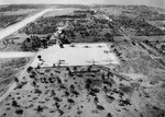 Aerial view looking west at Borinquen Field, Puerto Rico, 1940-41. Note B-18 Bolo bombers parked on the pad that would become Hangar 5.