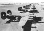 Squadron of RAF Liberators at Borinquen Field, Puerto Rico, 1941.
