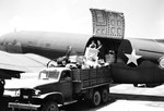 Cargo loaded in a C-46 Commando transport aircraft at Borinquen Field, Puerto Rico while in transit to the European Theater, 1942. Note the CCKW truck.