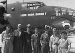 Reconnaissance Squadron members in front of an F-10 reconnaissance aircraft (photo variant of the B-25 Mitchell) at Borinquen Field, Puerto Rico, 1942.