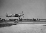 Republic P-47N #44-88340 landing at Borinquen Field, Puerto Rico while in transit to the European Theater, 1944.