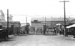 Gate B at the Puget Sound Naval Shipyard, Bremerton, Washington, United States, circa 1918.