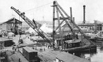 100-ton floating crane during a weight test at the Puget Sound Naval Shipyard, Bremerton, Washington, United States, 29 Jun 1920.