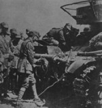 Chinese troops with a T-26 light tank, southern China, early 1939