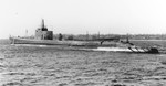 Submarine Growler off Groton, Connecticut, United States for some pre-commissioning trials, 21 Feb 1942. Photo 2 of 2.