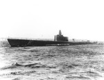 Submarine Growler off Groton, Connecticut, United States for some pre-commissioning trials, 21 Feb 1942. Photo 1 of 2.