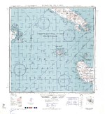 1943 United States Army map of western Guadalcanal and the Russel Islands in the Solomon chain.