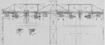 Drawing of the overhead structures of the slipways of AG Vulcan Stettin shipyard, Germany, date unknown