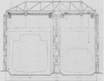 Cross section drawing of the slipways of AG Vulcan Stettin shipyard, Germany, date unknown