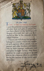 Message from King George VI of the United Kingdom to British children, 8 Jun 1946