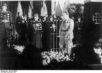 Hermann Göring speaking at the funeral of Ernst Udet, Berlin, Germany, 21 Nov 1941