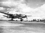A-26 Invader bomber taking off, 1944