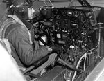Cockpit and instrument panel of an A-26 Invader aircraft, date unknown