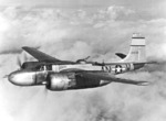 A-26B Invader aircraft in flight, date unknown