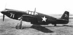 Profile of North American A-36A Apache aircraft #42-83671, 1942, location unknown